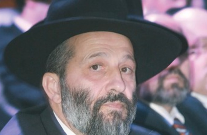 Arye Deri 370 (photo credit: Marc Israel Sellem/The Jerusalem Post)
