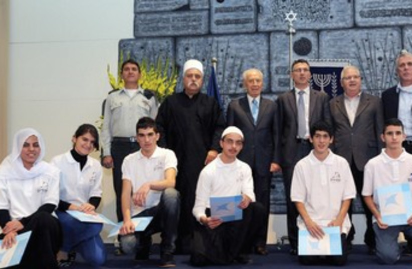 Peres launches Technion Sparks program 370 (photo credit: Mark Neiman/GPO)