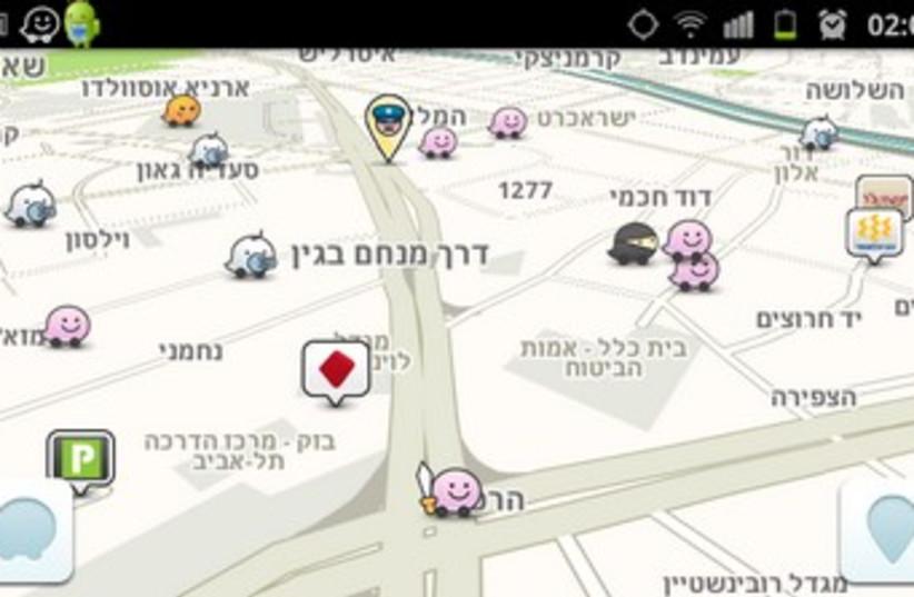 Screenshot of Waze mobile navigation app 370 (photo credit: Screenshot)