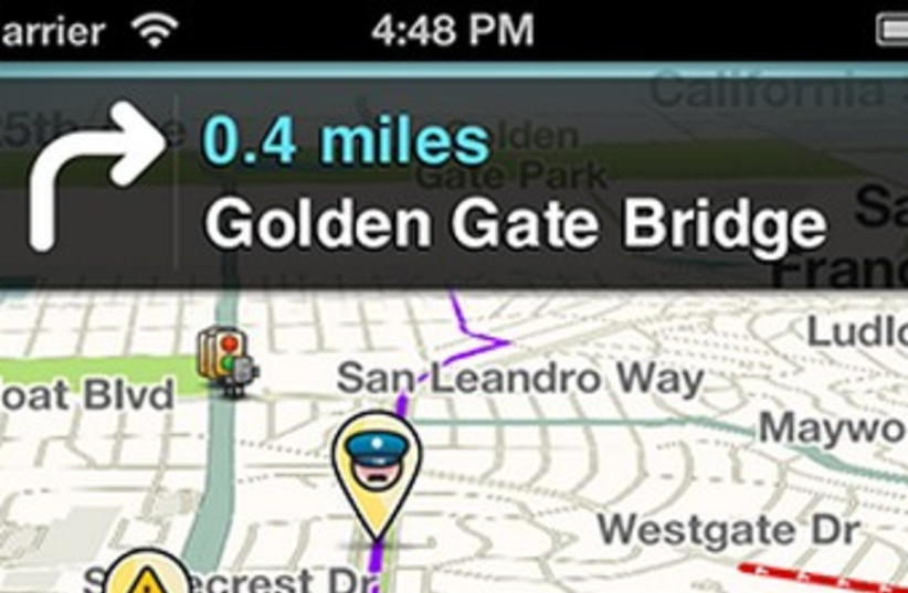 Waze navigation application 370 (photo credit: Courtesy Waze)