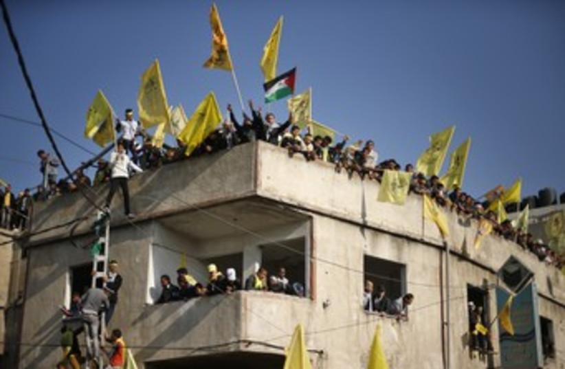 Fatah rally in Gaza City 370 (R) (photo credit: Suhaib Salem / Reuters)