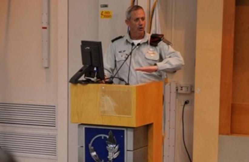 Benny Gantz speaks at senior military forum 370 (photo credit: IDF Spokesperson)