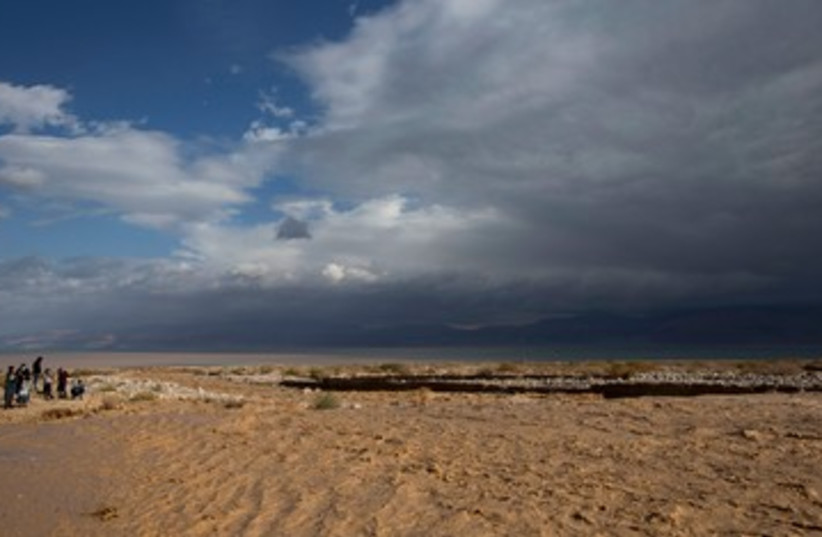 Stormy weather at the Dead Sea.