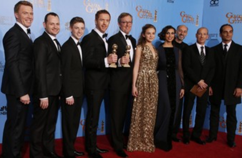 Homeland cast at Golden Globes 370 (photo credit: REUTERS/Lucy Nicholson)