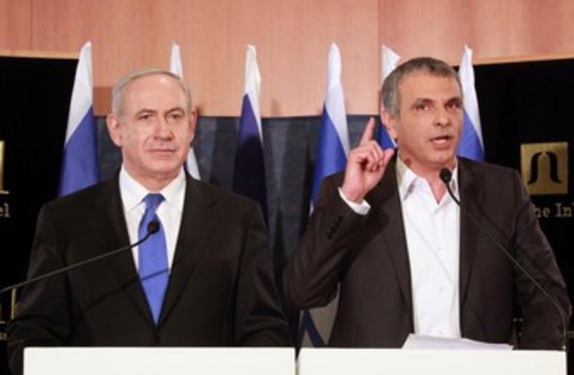 Netanyahu and Kahlon 370 (photo credit: Marc Israel Sellem/The Jerusalem Post)