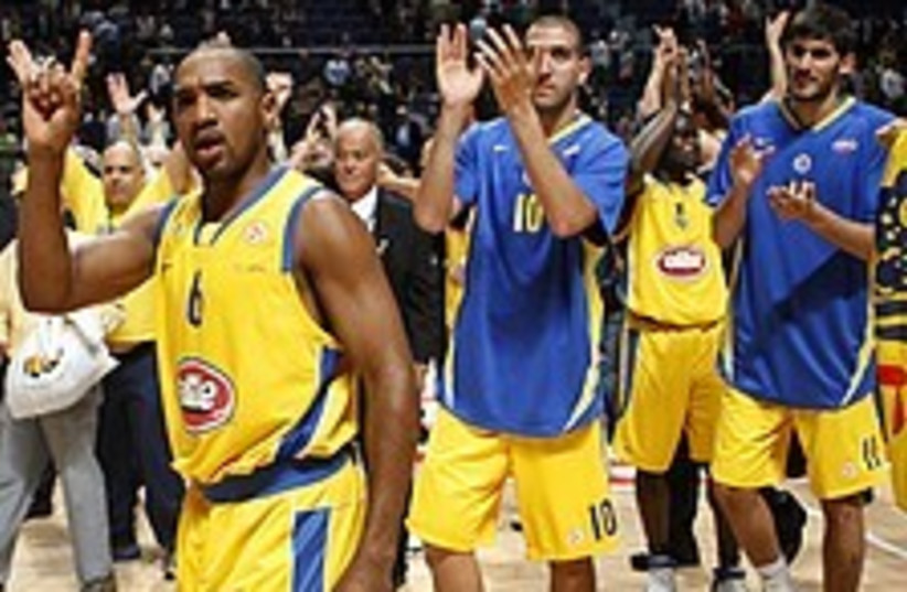 Maccabi TA celebrate 22  (photo credit: AP)