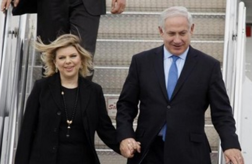 Binyamin and Sara Netanyahu in Ottawa 370 (photo credit: REUTERS/Blair Gable)
