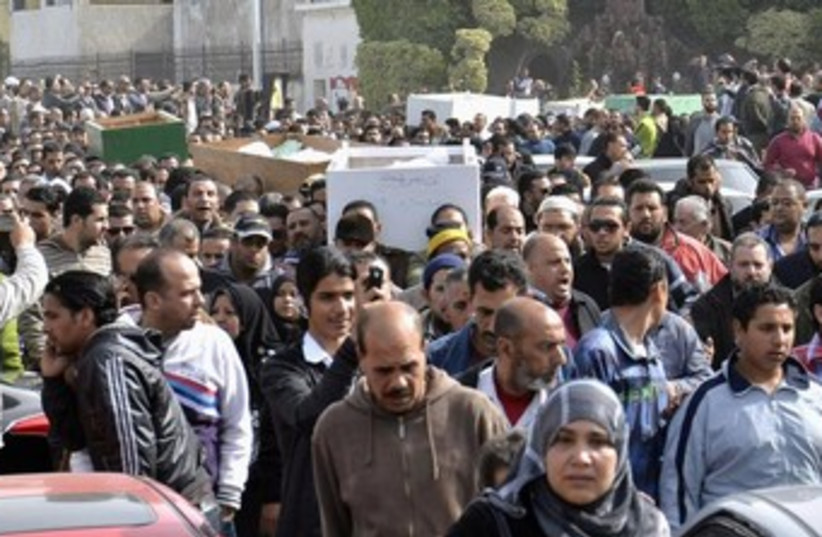 Port Said funeral 370 (photo credit: REUTERS/Stringer)