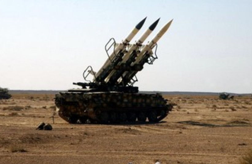 Syrian anti-aircraft missiles 370 (photo credit: REUTERS)