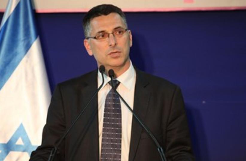 Gideon Sa'ar at the President's residence 370 (photo credit: Marc Israel Sellem/The Jerusalem Post)