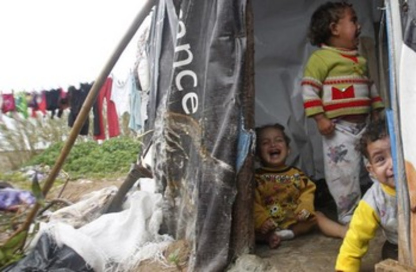 Syrian children at refugee camp in Tyre, southern Lebanon 37 (photo credit: REUTERS/Ali Hashisho)