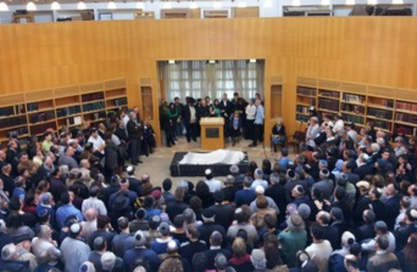 Rabbi Hartman funeral (photo credit: Rachel Marder)