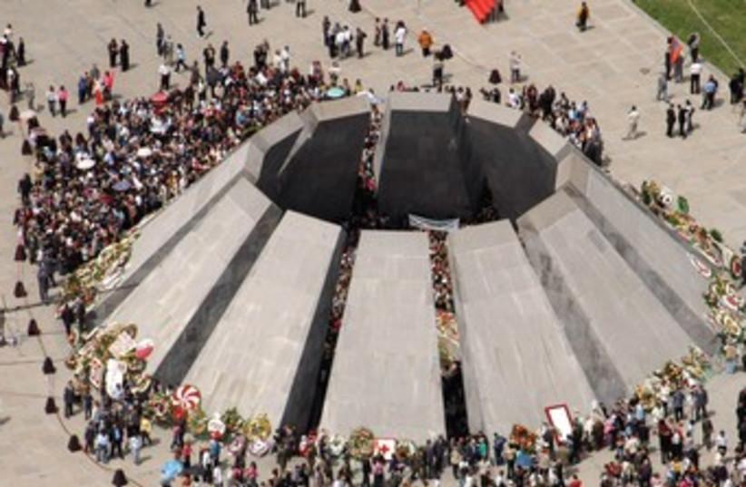 Armenian genocide memorial in Yerevan 370 (photo credit: REUTERS)