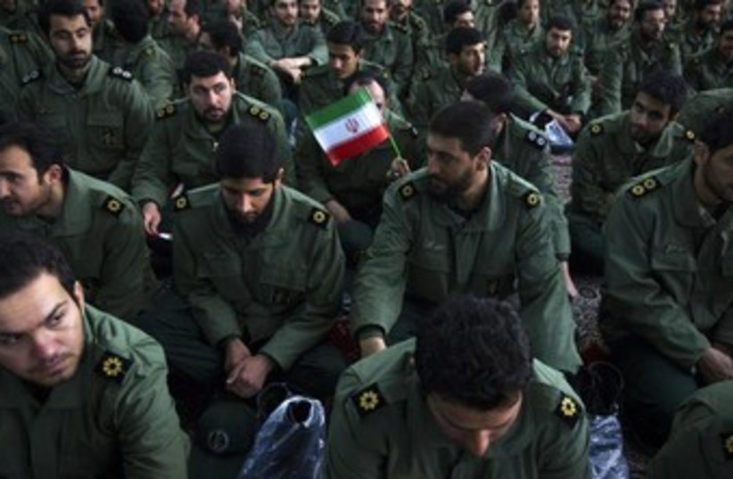 Members of the Iranian Revolutionary Guards 370 (photo credit: REUTERS)