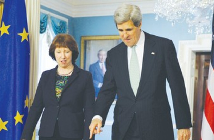 Kerry and Ashton 370 (photo credit: REUTERS)