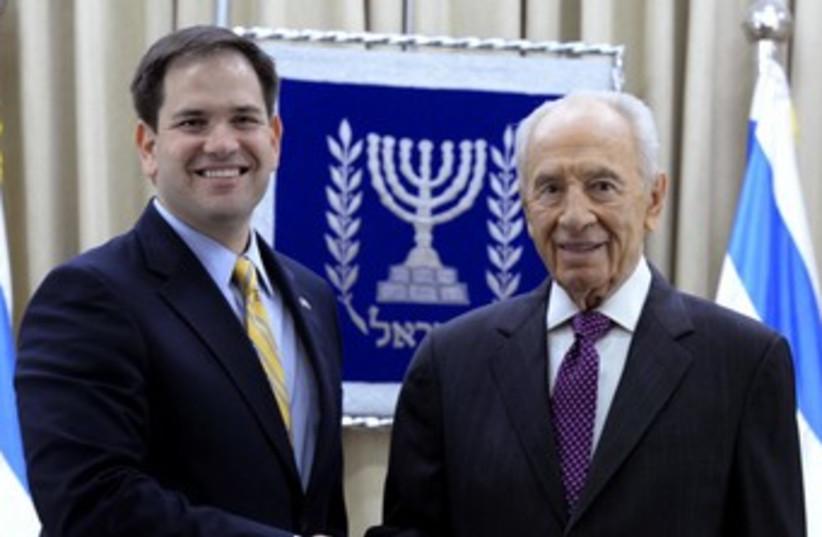 Peres and Rubio (photo credit: GPO)