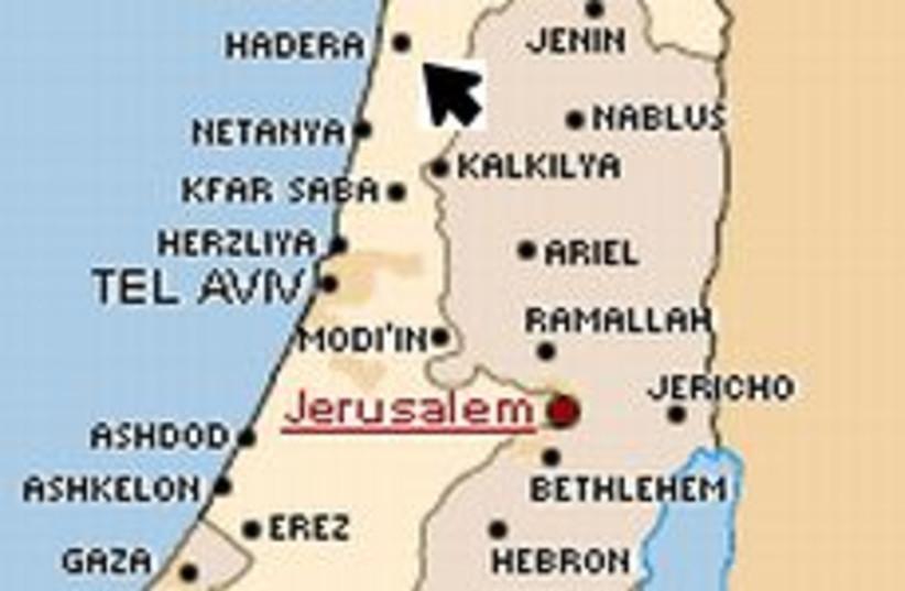 hadera map 298 (photo credit: The Jerusalem Post)