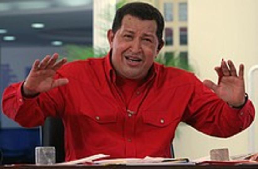 chavez what a wanker 224 (photo credit: AP)