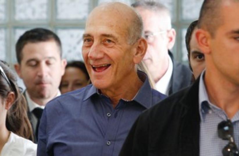 Ehud Olmert after verdict 370 (photo credit: Gali Tibbon/Reuters)