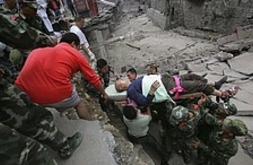 china quake rescue 224.8 (photo credit: AP)