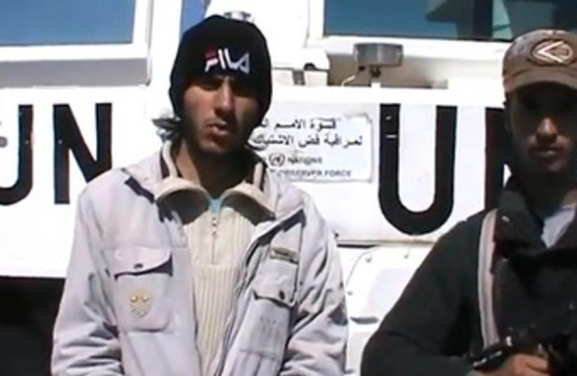 UN peacekeepers held by Syria rebels 370 (photo credit: YouTube Screenshot)