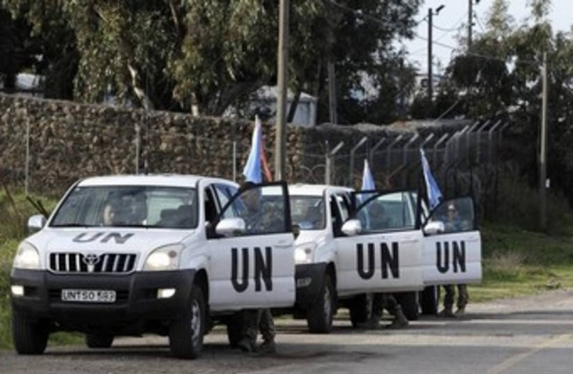 UN Truck Convoy 370 (photo credit: REUTERS/Baz Ratner)