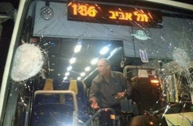 Bus stoned 370 (photo credit: Channel 10)