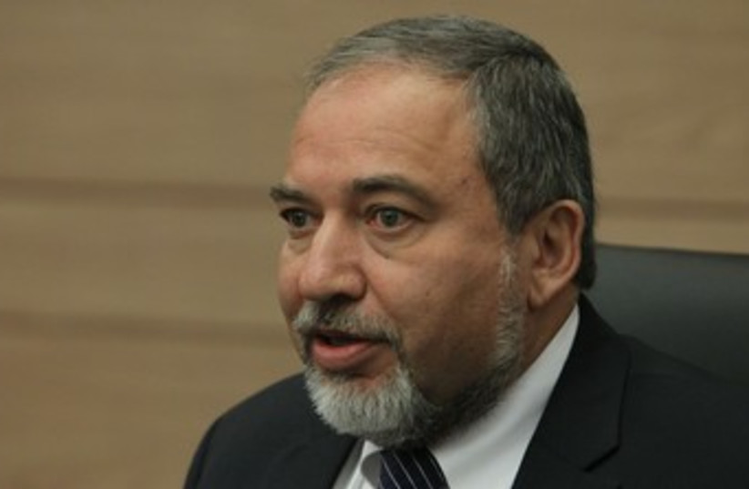 Liberman 370 (photo credit: Marc Israel Sellem/The Jerusalem Post)