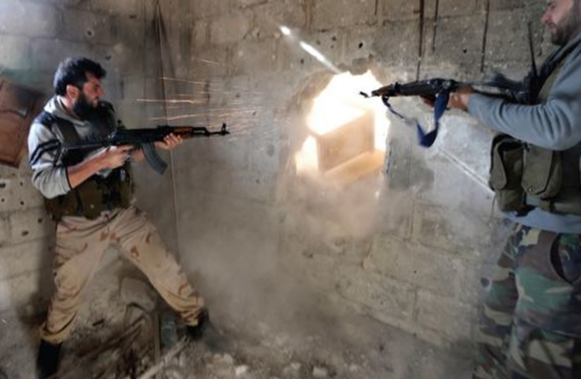 Syrian Rebels 521 (photo credit: GORAN TOMASEVIC)