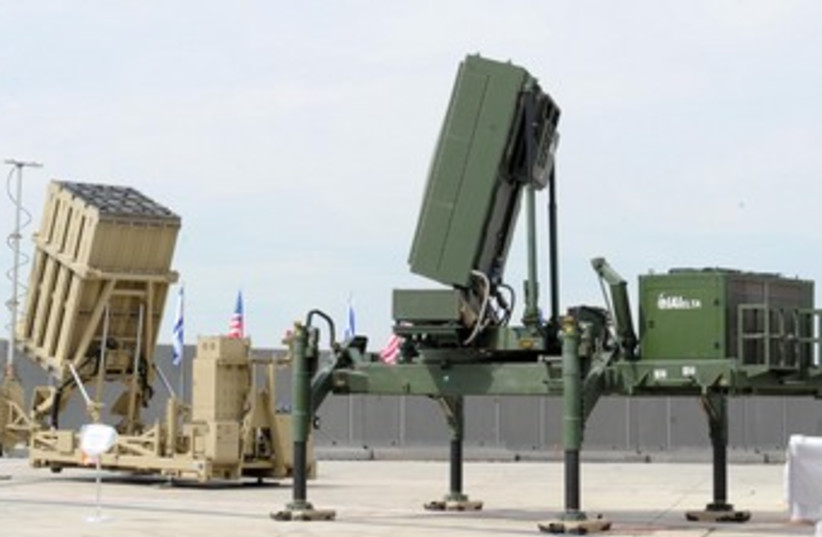 Iron Dome displayed at Ben Gurion airport 370 (photo credit: Alon Basson/Defense Ministry)