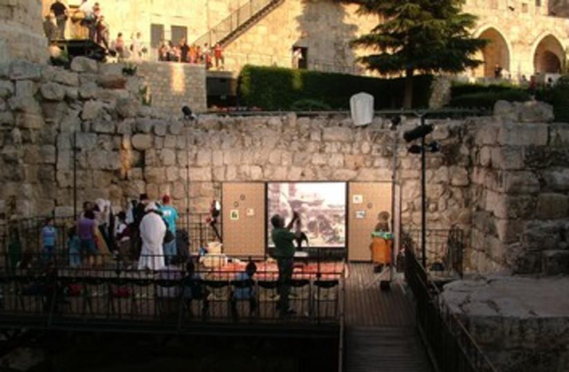 Passover at Tower of David (photo credit: Courtesy)