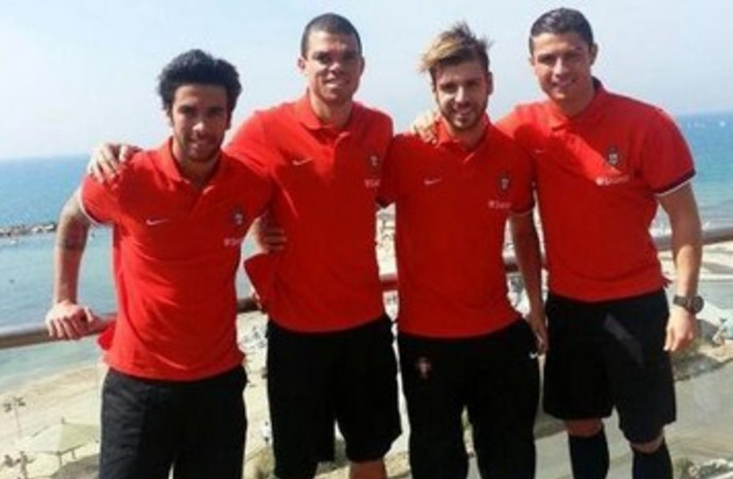 Cristiano Ronaldo, Portugal soccer players in Israel 370 (photo credit: Courtesy of Facebook)