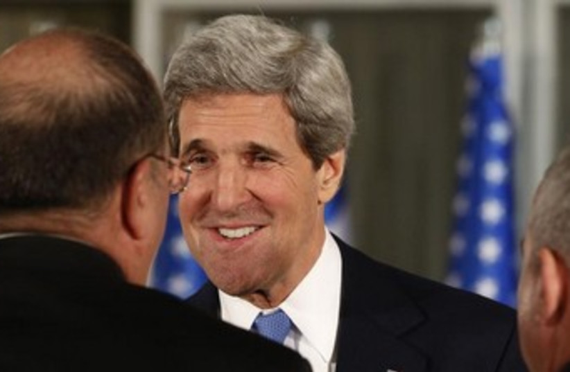 John Kerry in Israel 370 (photo credit: REUTERS/Larry Downing)
