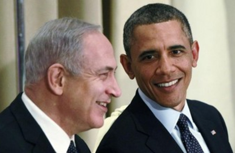 US President Barack Obama and Prime Minister Binyamin Netany (photo credit: REUTERS/Jason Reed)