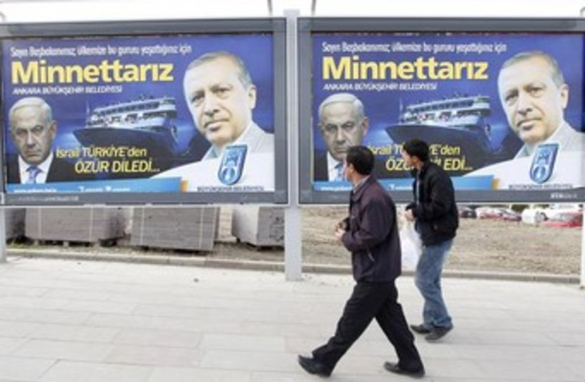 Thanks Erdogan for Israel apology billboards 370 (photo credit: REUTERS/Umit Bektas)