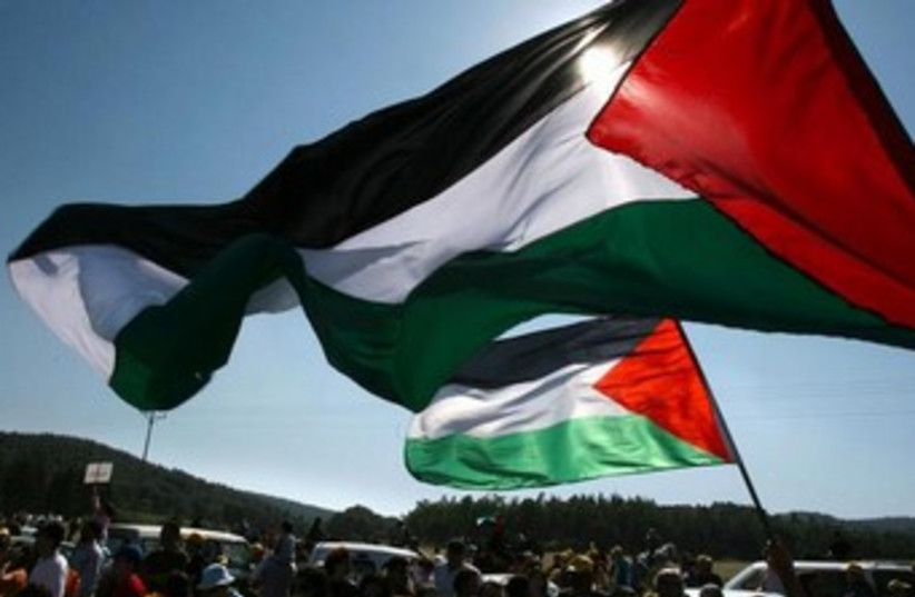 Palestinian flag/protest good illustrative 370 (photo credit: REUTERS/Ammar Awad)