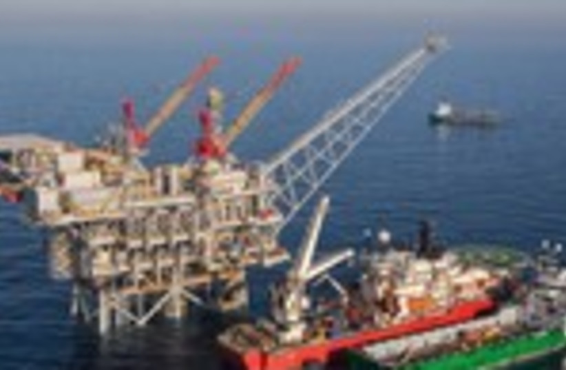 Tamar natural gas rig 150 (photo credit: Albatross)