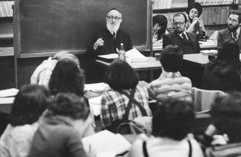 Rabbi yeshiva seminar (black and white) 521 (photo credit: Courtesy)