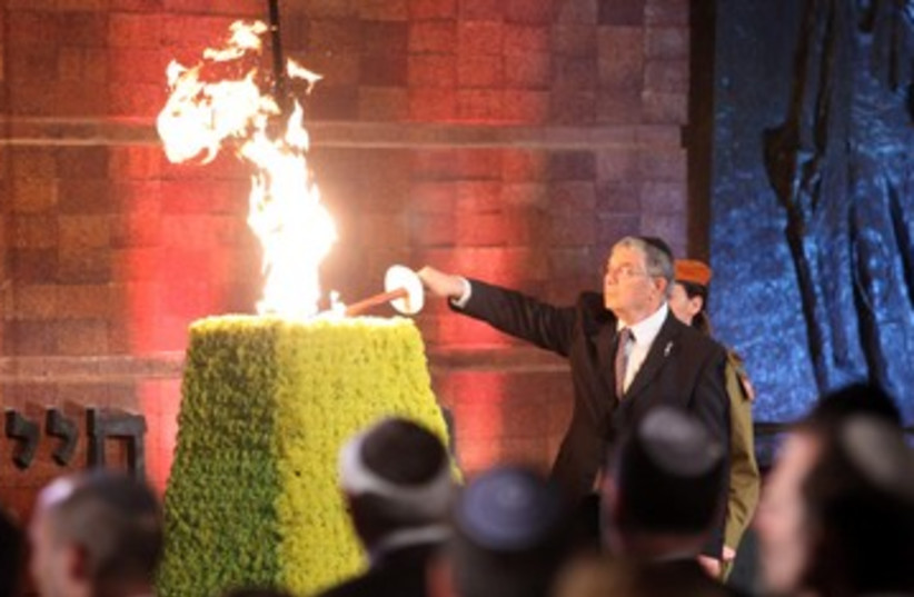 Yad Vashem ceremony 2 (photo credit: Marc Israel Sellem/The Jerusalem Post)
