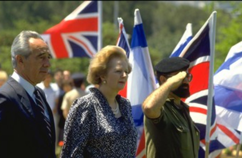 Shimon Peres and Margaret Thatcher 370 (photo credit: Courtesy The President's Residence )