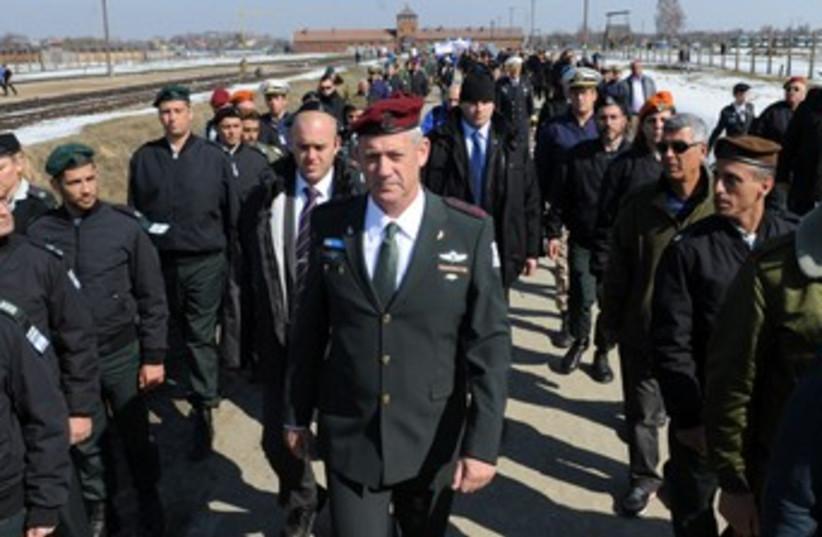 Gantz at March of Living 370 (photo credit: IDF Spokesman's Office)