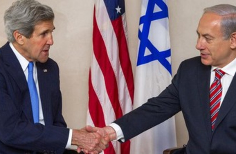 Kerry Netanyahu 9.4.13 (photo credit: Reuters)