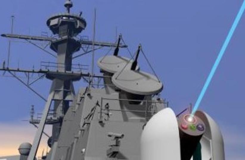 US laser weapon technology (photo credit: US Navy Illustration)