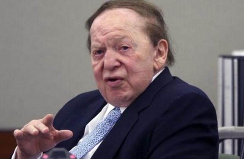 Sheldon Adelson 390 (photo credit: reuters)
