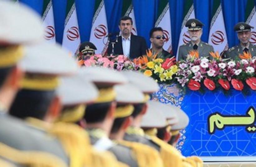 Iran military parade 370 (photo credit: REUTERS)
