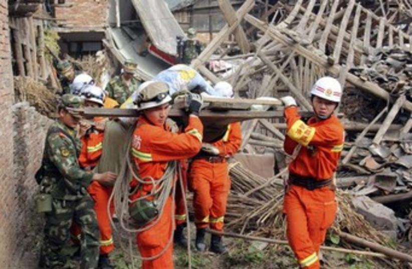 China Earthquake 370 (photo credit: REUTERS)