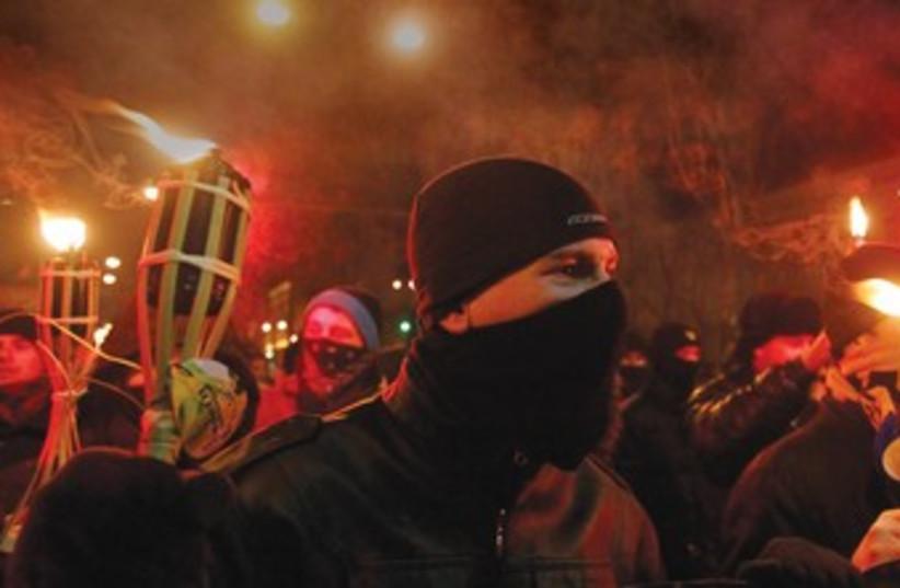 Svoboda Ukraine370 (photo credit: Gleb Garanich/Reuters)