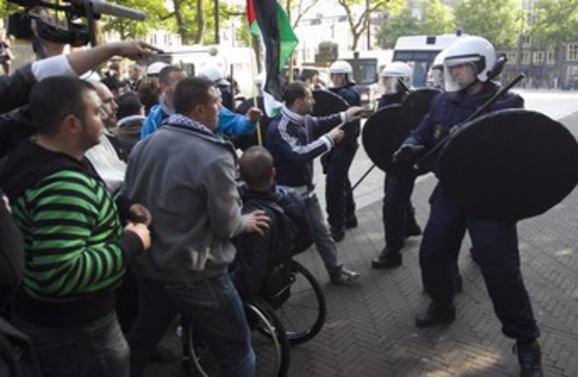 Dutch anti-israel 370 (photo credit: REUTERS)