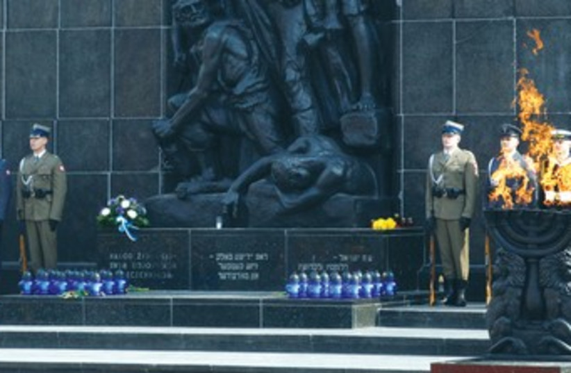 70th anniversary of the Warsaw Ghetto 370 (photo credit: REUTERS)