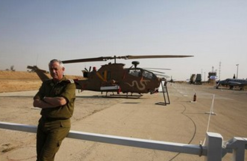 IDF Chief of Staff Benny Gantz 370 (photo credit: REUTERS)